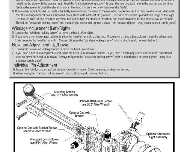 Dead Nuts 3 Mark III Professional Archery Sight